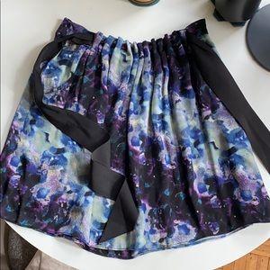 Charlotte Ronson Ice Dye Silk Skirt